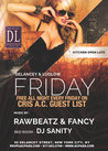 DL Fridays. FREE All-Nite with Cris A.C. List or Ticket